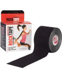 Rocktape Hypoallergenic Strong Adhesive Kinesiology Tape Roll - Black