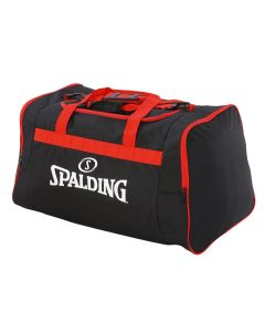 Spalding Team Bag Medium Carry Kit Sportsbag Equipment Holdall - Black/Red