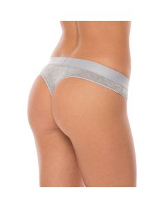 Comfy Womens String Wood Training Fitness Underwear 2 Pack - Grey