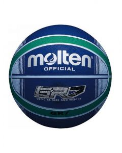 Molten BGR Series Coloured Indoor/Outdoor Blue/Green 12 Panel Nylon Basketball