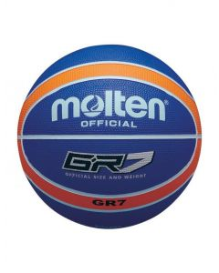 Molten BGR Series Coloured Indoor/Outdoor Blue/Orange 12 Panel Nylon Basketball