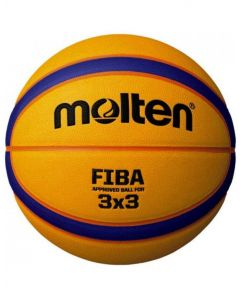 Molten B33T5000 3x3 FIBA Approved PU Match Ball 12 Panel Size 6 Blue/Yellow