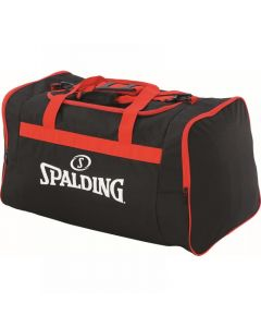Spalding Team Bag Large Sports Equipment Holdall Training - Black/Red