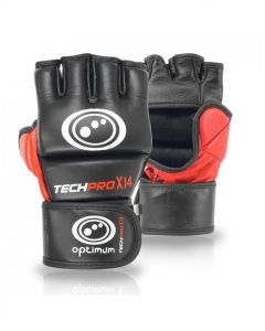 Optimum Sport Techpro X14 MMA Grappling Gloves Leather Striking Hand Protection