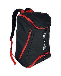 Spalding Backpack Large Basketball & Sports Equipment Rucksack Bag - Black/Red