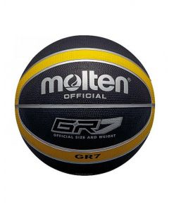 Molten BGR Series Indoor/Outdoor Nylon Wound Black/Yellow 12 Panel Basketball