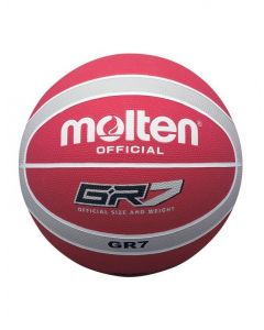 Molten BGR Series Coloured Indoor/Outdoor Red/Silver 12 Panel Nylon Basketball