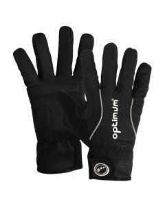 Optimum Sports Hawkley Junior Cycling Gloves in Black - Padded & Reflective