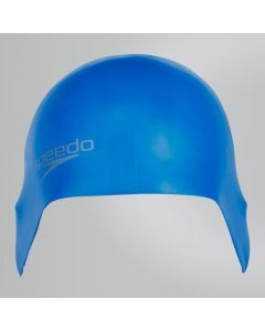 Speedo Swimming Plain Moulded Silicone Swim Cap Hydrodynamic - Blue