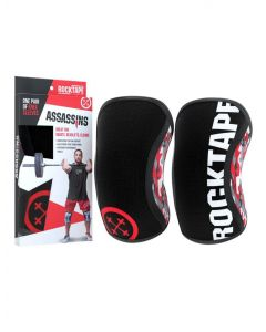 Rocktape Assassins Knee Sleeves Protection & Support For Sports Fitness Gym 5mm