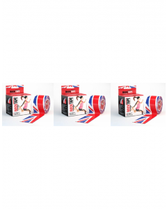 Rocktape Strong Adhesive Kinesiology Tape Patterned Rolls x 3 - Union Jack