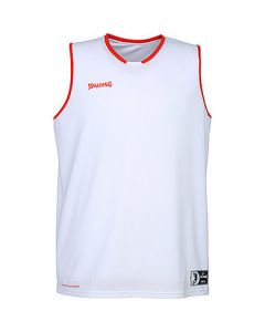 Spalding Move Tank Mens Basketball Top FIBA Confirmed Size - White/Red