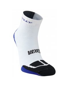 Hilly Twin Skin Anklet Vented Anti Blister Running Socks - White/Blue/Black