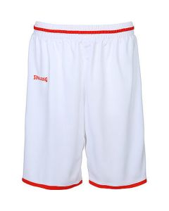 Spalding Move Shorts Mens Basketball Apparel FIBA Confirmed - White/Red