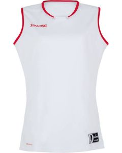 Spalding Move Womens Basketball Tank Top FIBA Confirmed Size - White/Red