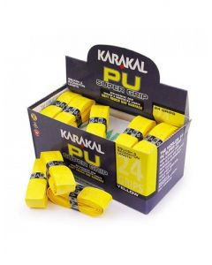 Karakal PU Super Grip Badminton Tennis Squash Racket Grips x 24 - Yellow