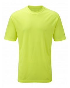 Ronhill Running Mens Everyday Plain Tee Shirt High Wicking Vapourlite - Fluo Yellow